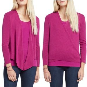 Nic + Zoe 4 Way Pink Cardigan
